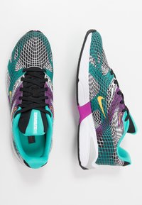 Nike Sportswear - GHOSWIFT - Sneakersy niskie - black/laser orange/hyper jade/vivid purple/pure platinum/white - 1