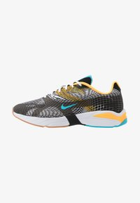 black/blue fury/laser orange/white/medium brown