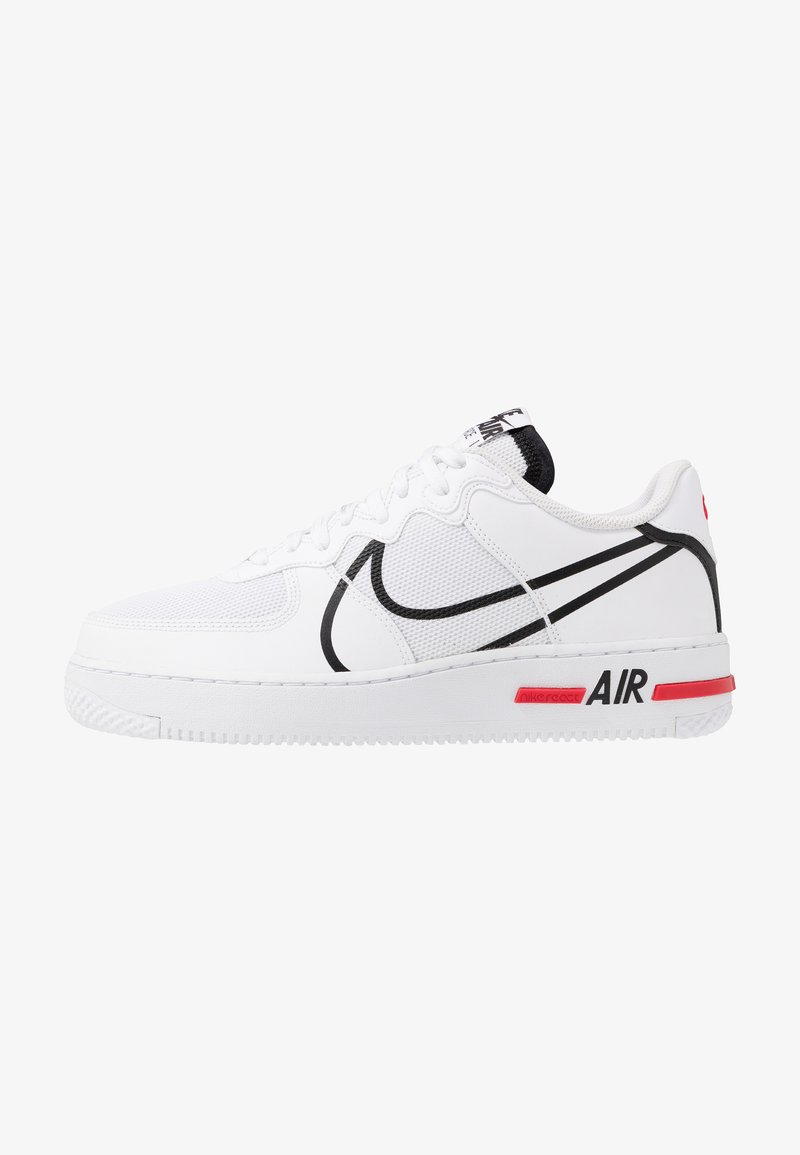Nike Sportswear - AIR FORCE 1 REACT - Sneakersy niskie - white/black/university red