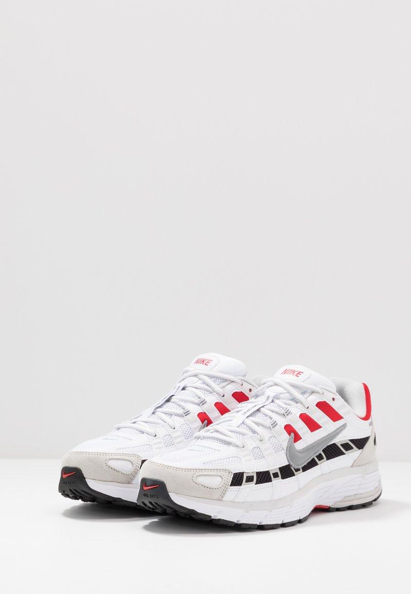 Nike Sportswear P-6000 - Joggesko - white/particle grey/university red/neutral grey/black