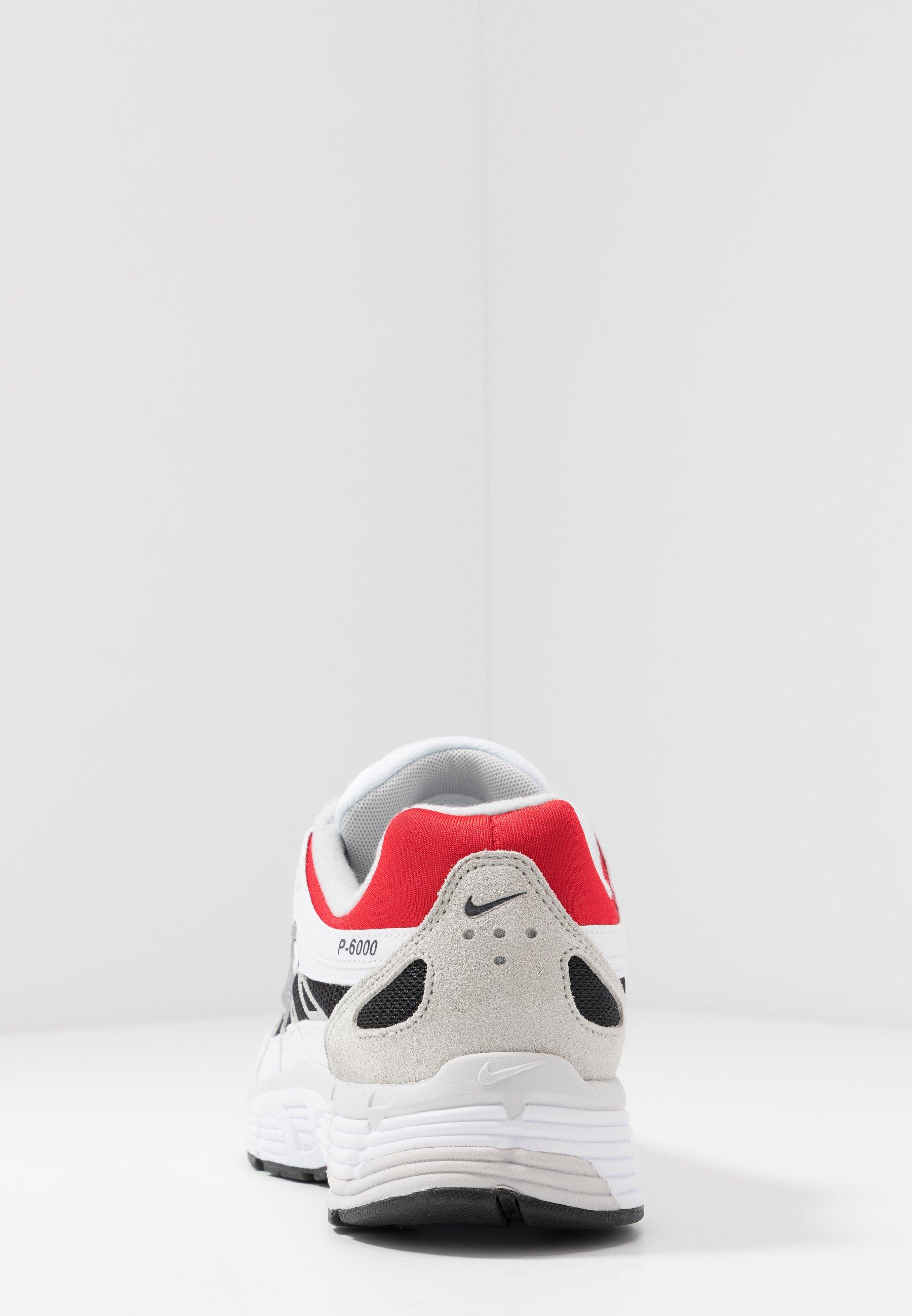 Nike Sportswear P-6000 - Baskets Basses White/particle Grey/university Red/neutral Grey/black