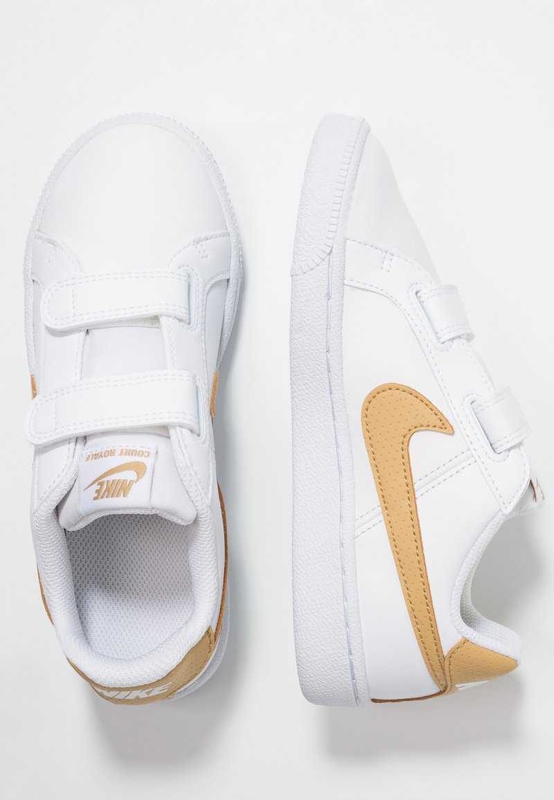 Nike Sportswear - COURT ROYALE - Sneakers laag - white/club gold