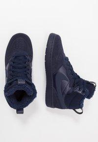 Nike Sportswear - COURT BOROUGH MID 2 BOOT WINTERIZED - Sneakers hoog - blue void/blue stardust/coast/topaz mist/photo blue - 0