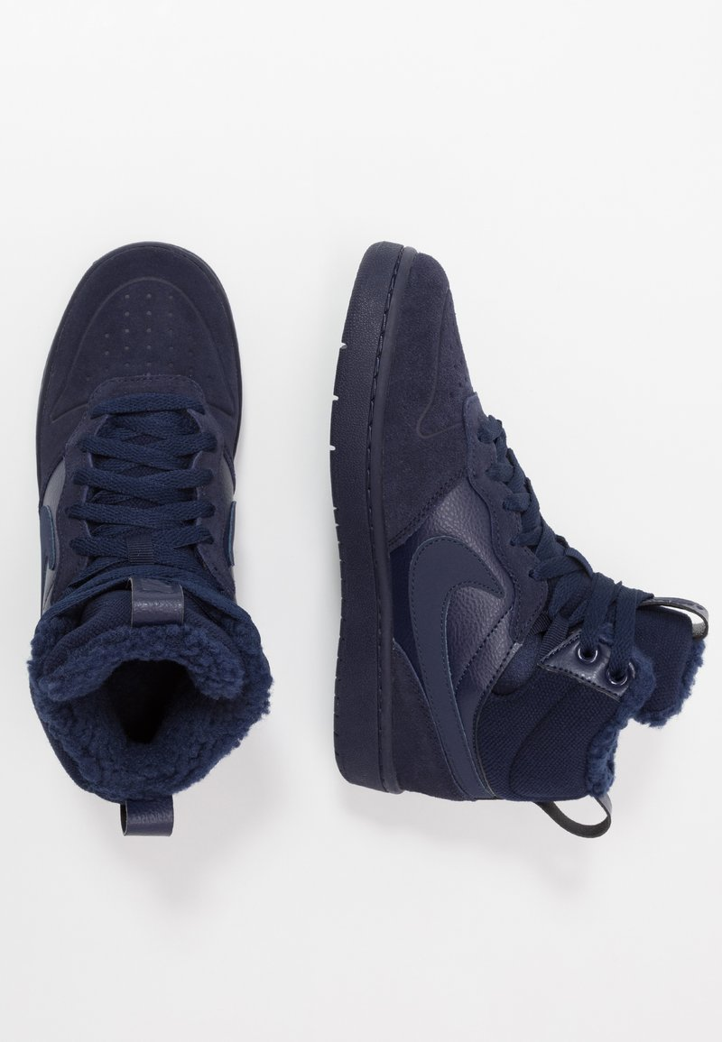 Nike Sportswear - COURT BOROUGH MID 2 BOOT WINTERIZED - High-top trainers - blue void/blue stardust/coast/topaz mist/photo blue