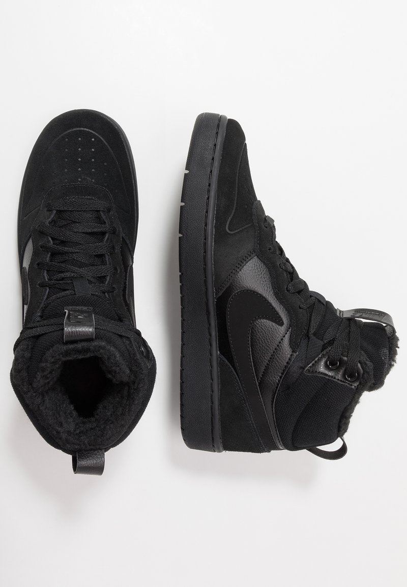 Nike Sportswear - COURT BOROUGH MID 2 BOOT WINTERIZED - Vysoké tenisky - black/white