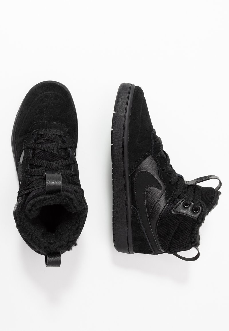 Nike Sportswear - COURT BOROUGH MID BOOT WINTERIZED - Skateskor - black/white