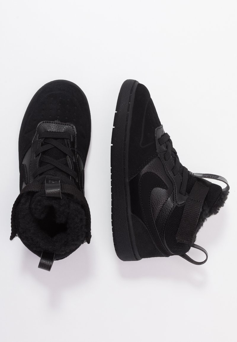 Nike Sportswear - COURT BOROUGH MID WINTERIZED  - Obuwie do nauki chodzenia - black/white