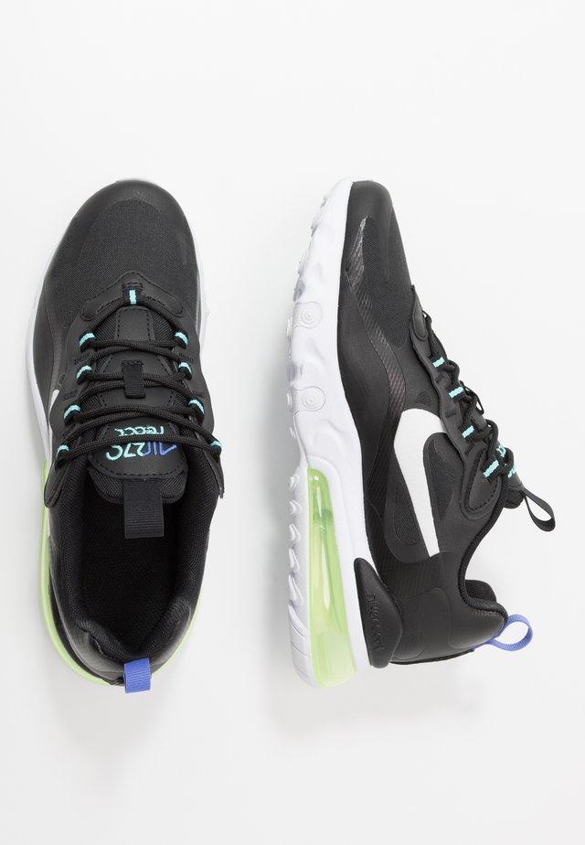 AIR MAX 270 REACT - Sneakers laag - black/dark smoke grey/laser crimson/voltage purple
