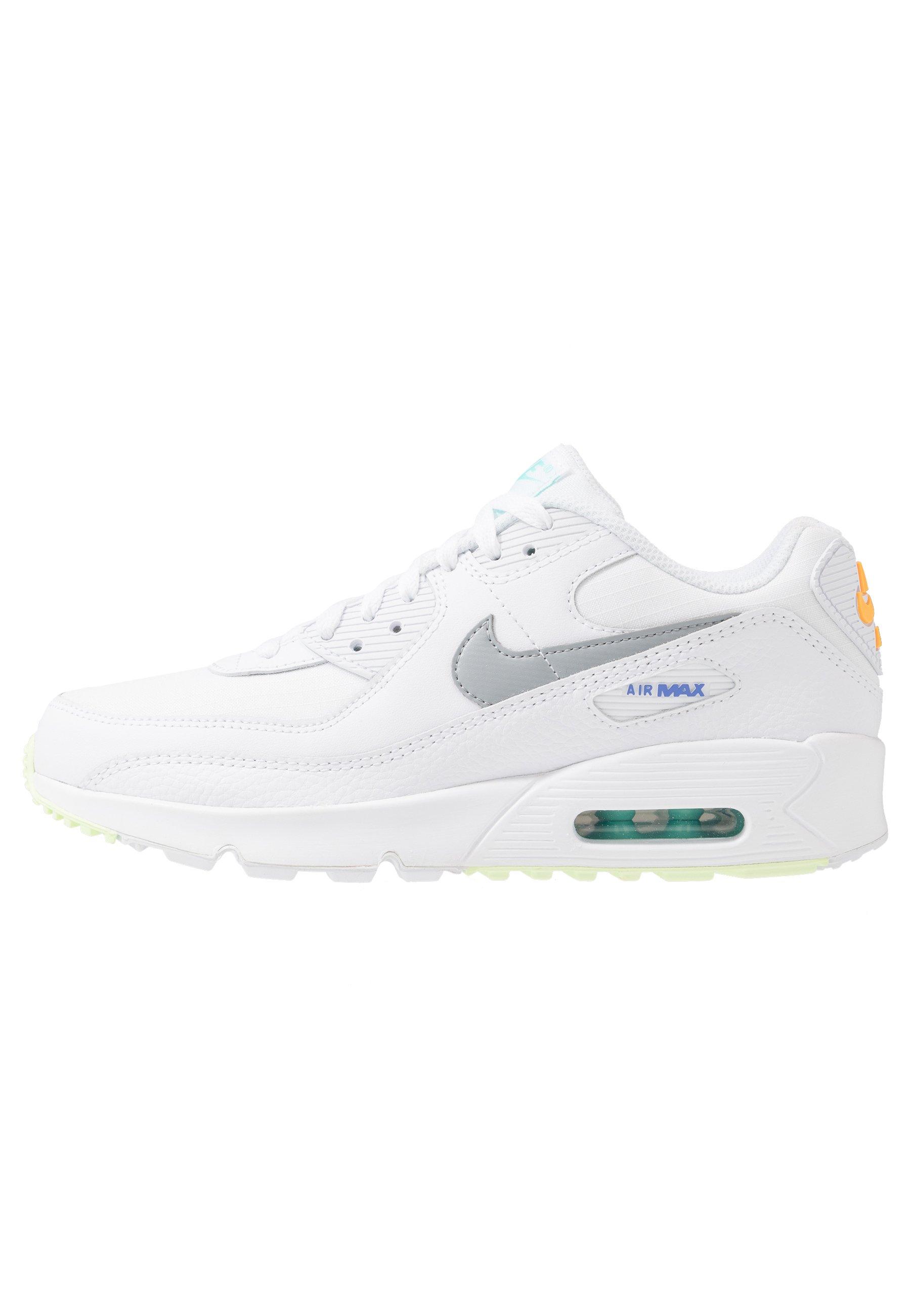NIKE AIR MAX 90 Sneakers whitelight smoke greylaser orangeaurora greensapphirebarely volt
