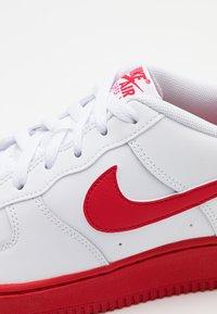 Nike Sportswear - AIR FORCE 1 BRICK - Sneakers - white/university red/white - 5