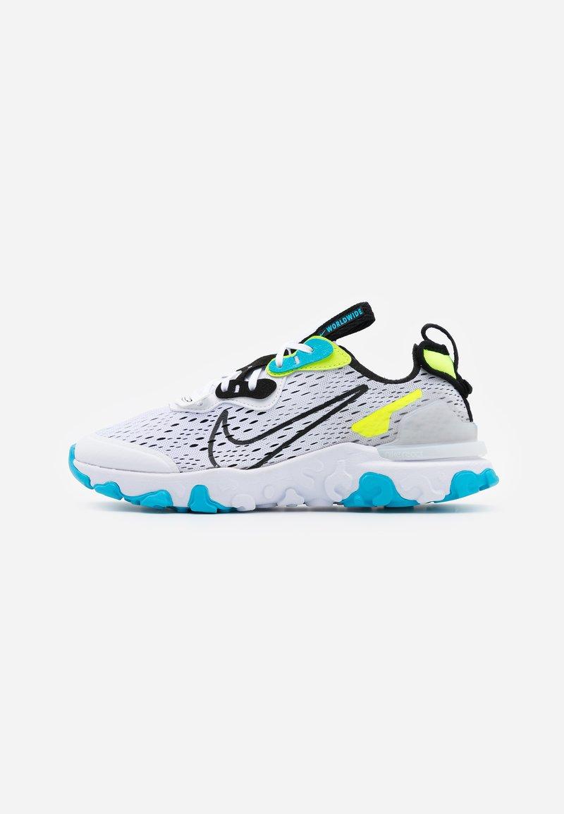Nike Sportswear - REACT VISION WW - Tenisky - white/black/volt/blue fury