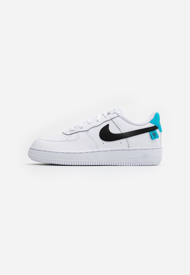FORCE 1UNISEX - Matalavartiset tennarit - white/blue fury