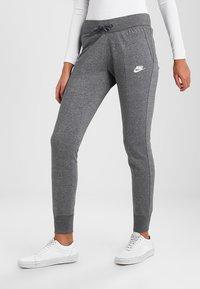 Nike Sportswear - PANT TIGHT - Teplákové kalhoty - charcoal heather/dark grey/white - 0
