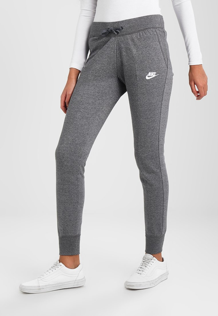 Nike Sportswear - PANT TIGHT - Pantalon de survêtement - charcoal heather/dark grey/white