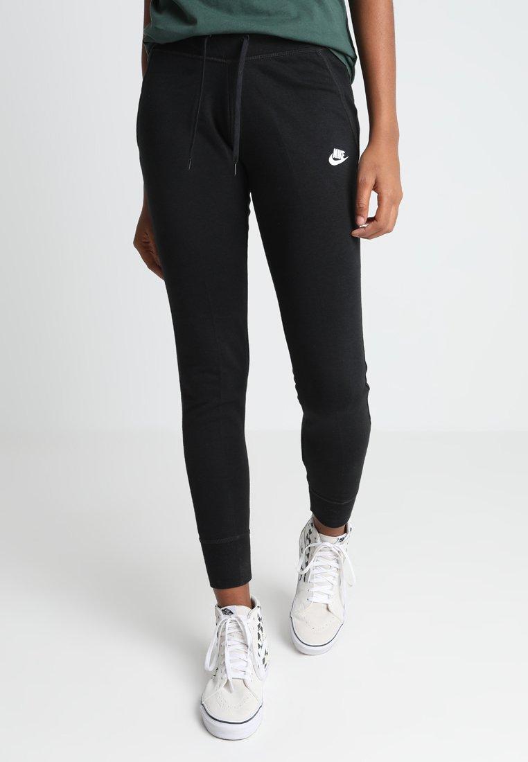 Nike Sportswear - PANT TIGHT - Tracksuit bottoms - black/black/white