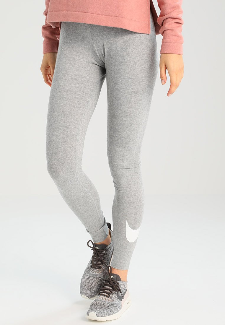 Nike Sportswear - CLUB LOGO - Leggings - Trousers -  grey heather/white