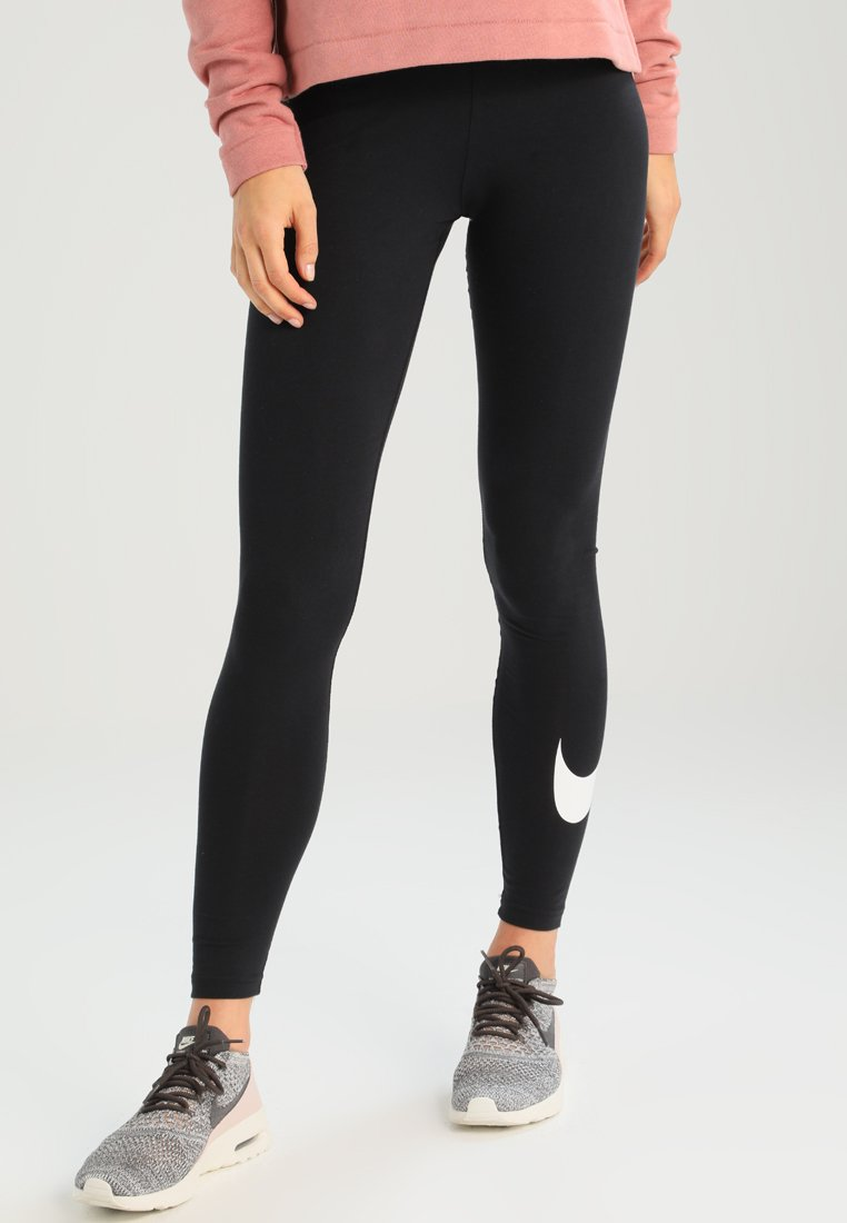 Nike Sportswear - CLUB LOGO - Leggings - black