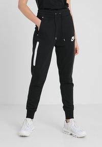 Nike Sportswear - Pantaloni sportivi - black/black/white - 0