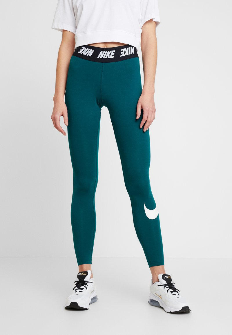 Nike Sportswear - CLUB  - Leggings - midnight turq/white
