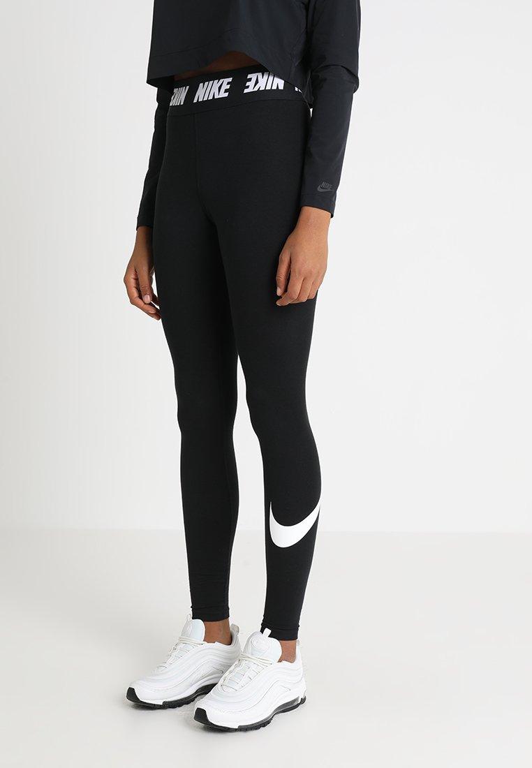 Nike Sportswear - CLUB  - Legíny - black/white