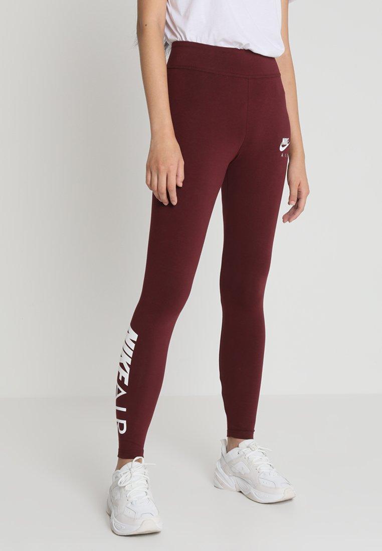 Nike Sportswear - AIR - Leggings - Hosen - night maroon/white