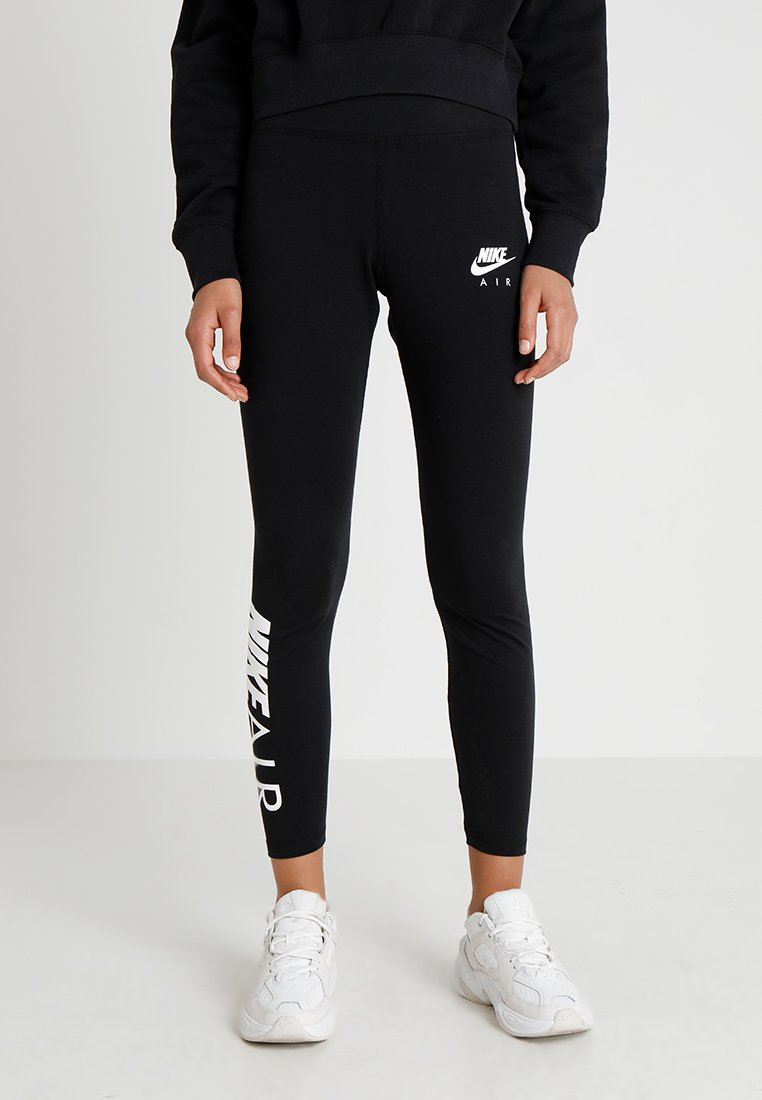Nike Sportswear - AIR - Leggings - Hosen - black/white