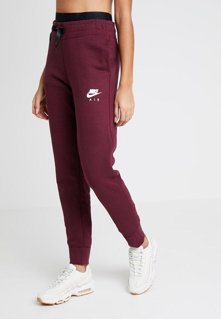 Nike Sportswear - AIR PANT - Verryttelyhousut - night maroon/white