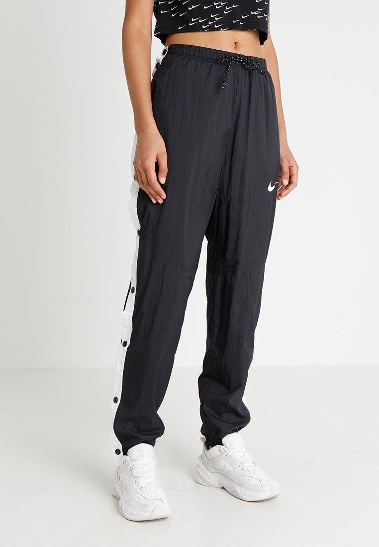 Nike Sportswear - PANT POPPER - Träningsbyxor - black/white