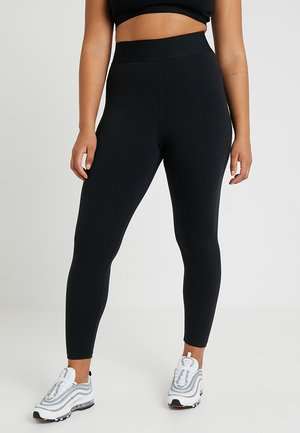 LEGASEE PLUS - Legginsy - black/white