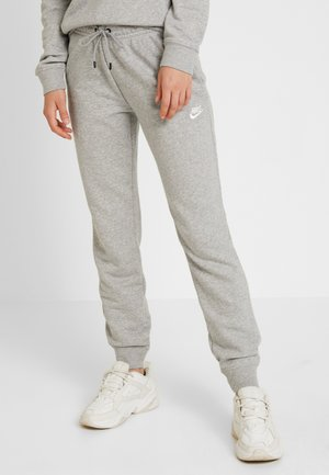 W NSW ESSNTL PANT REG FLC - Pantaloni sportivi - grey heather/white