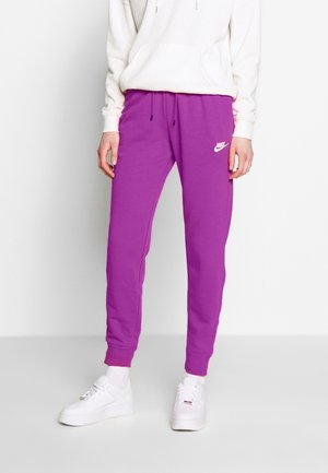 W NSW ESSNTL PANT REG FLC - Teplákové kalhoty - watermelon/white