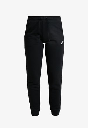 W NSW ESSNTL PANT REG FLC - Tracksuit bottoms - black/white