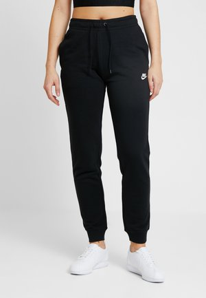 W NSW ESSNTL PANT REG FLC - Pantalon de survêtement - black/white