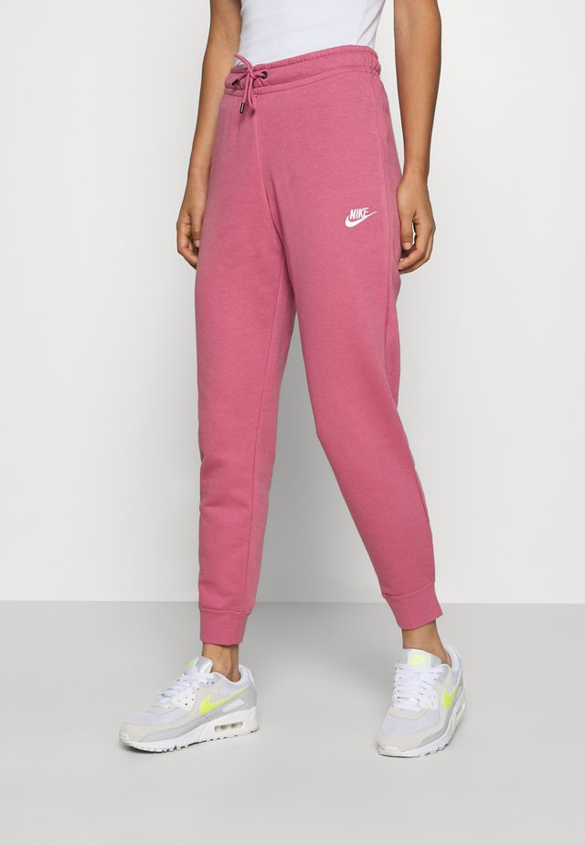 PANT TIGHT - Jogginghose - desert berry/white