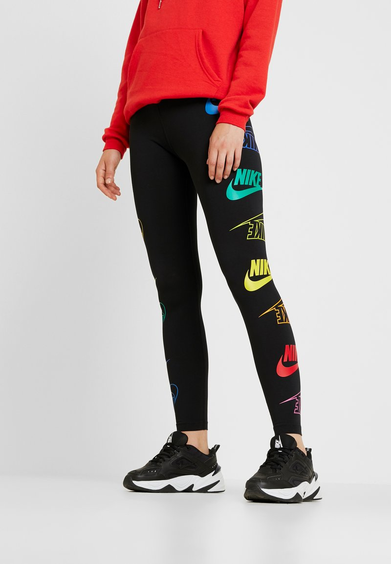 Nike Sportswear - LEGASEE FLIP - Leggingsit - black/racer blue