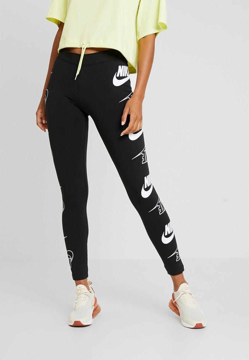 Nike Sportswear - LEGASEE FLIP - Leggings - black/white