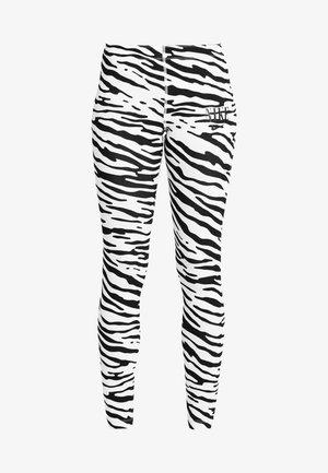 Leggings - Trousers - white/black