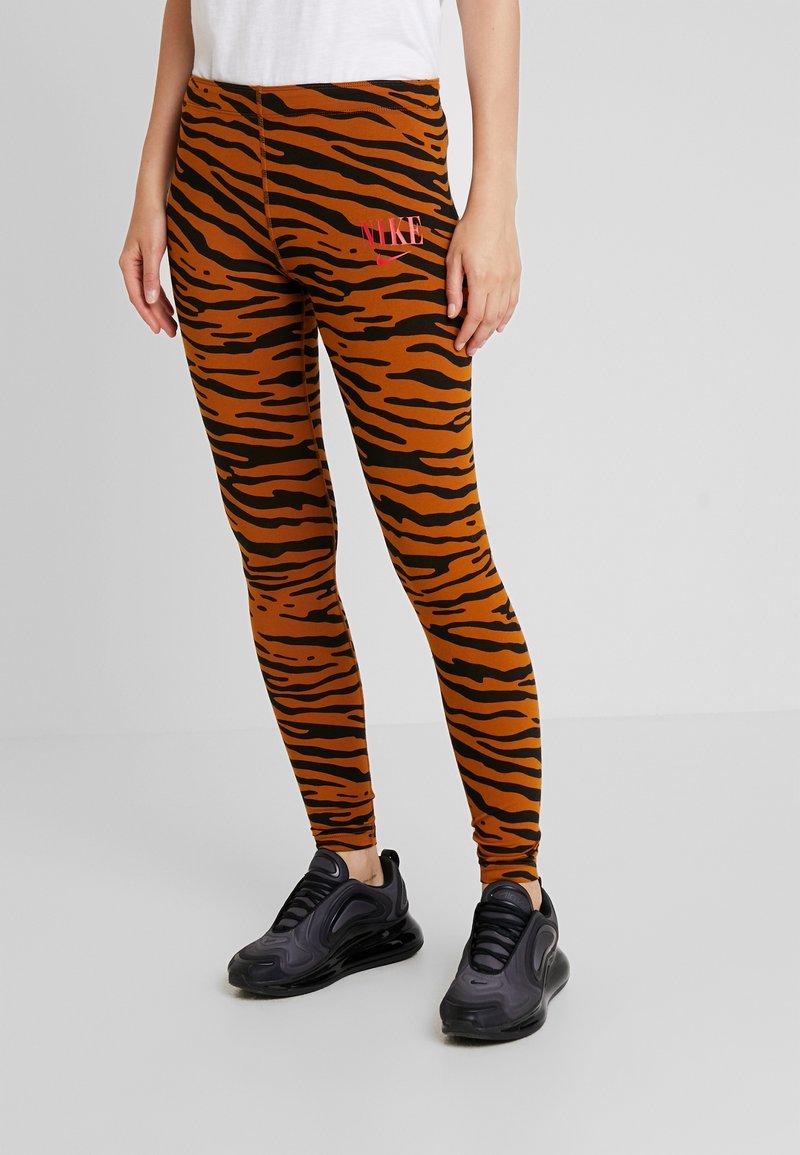 Nike Sportswear - Leggings - Trousers - black/university red