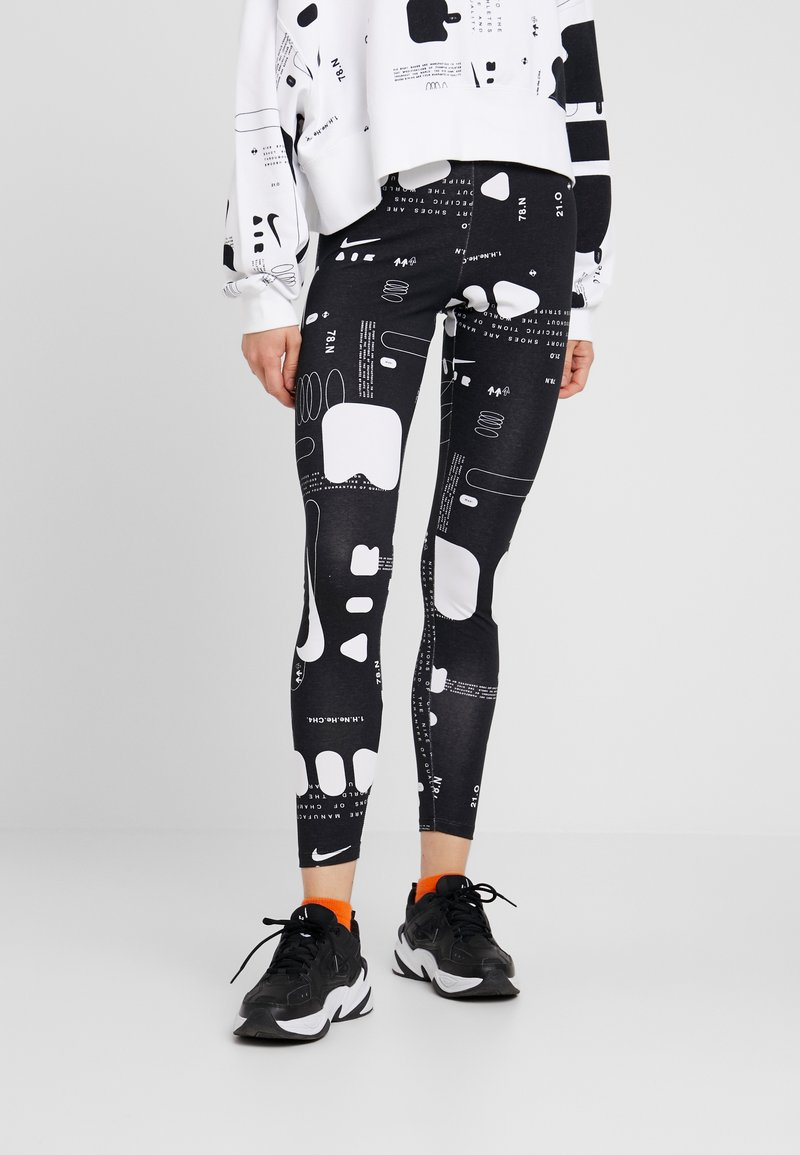 Nike Sportswear - AIR - Leggings - black/white