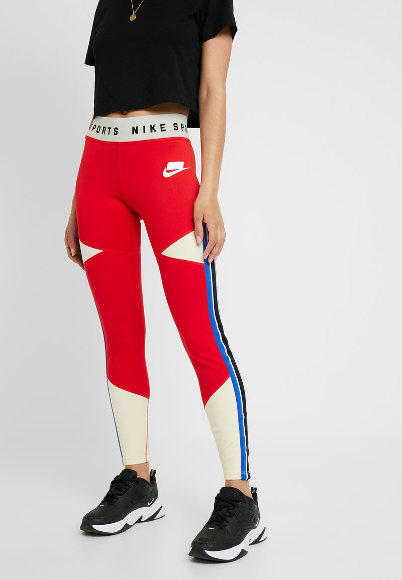 Nike Sportswear - Leggings - Trousers - university red/white