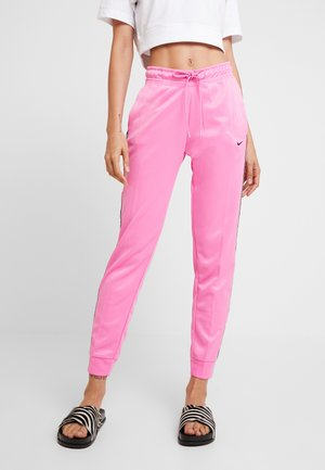 JOGGER LOGO TAPE - Pantalon de survêtement - china rose/black