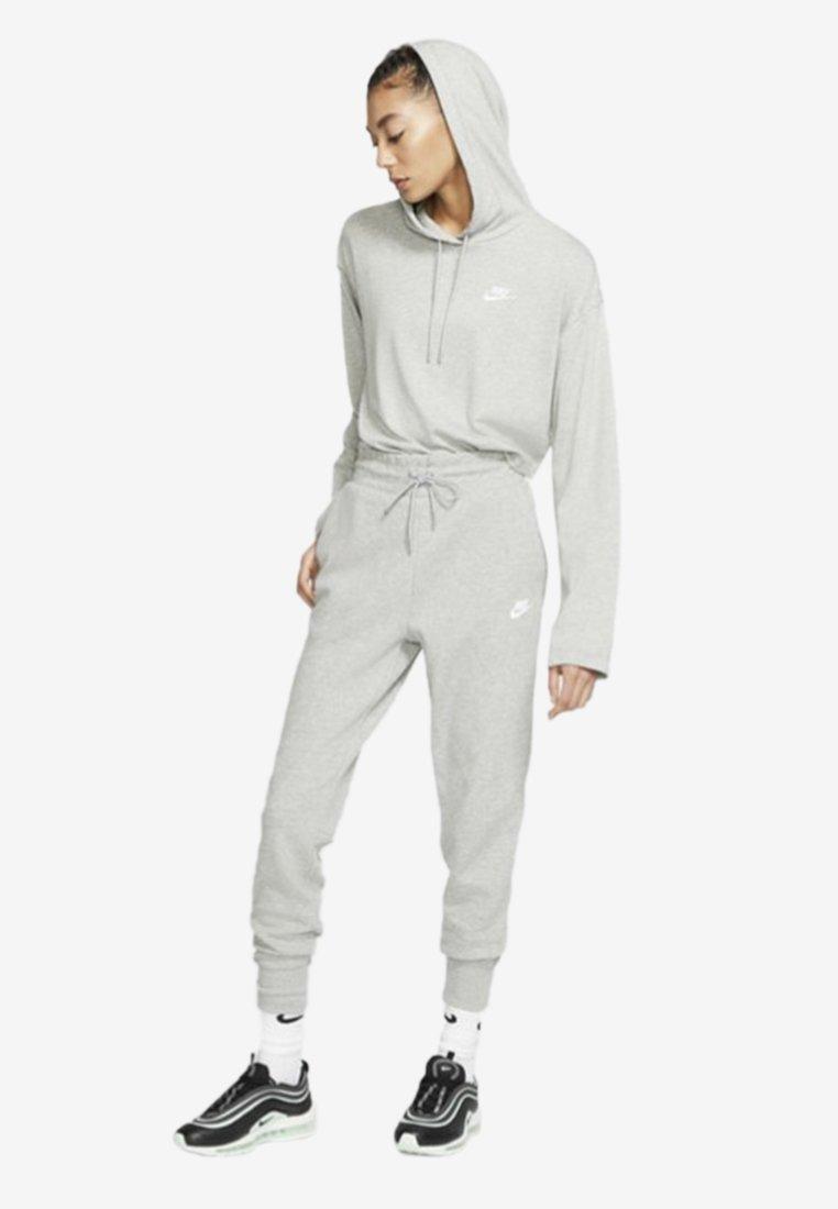Nike Sportswear W NSW TCH FLC PANT - Pantaloni sportivi - dark grey heather/matte silver/white WBn7DYUd