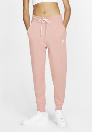Tracksuit bottoms - pink/white