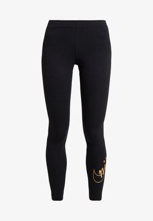 GLITTER - Legging - black/gold