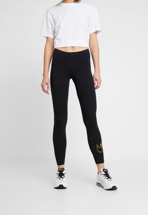 GLITTER - Legging - black/gold