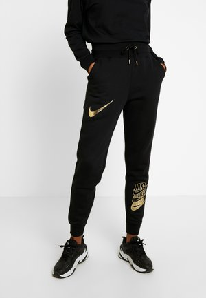 SHINE - Tracksuit bottoms - black/metallic