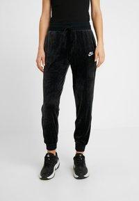 Nike Sportswear - PANT PLUSH - Tracksuit bottoms - black/white - 0