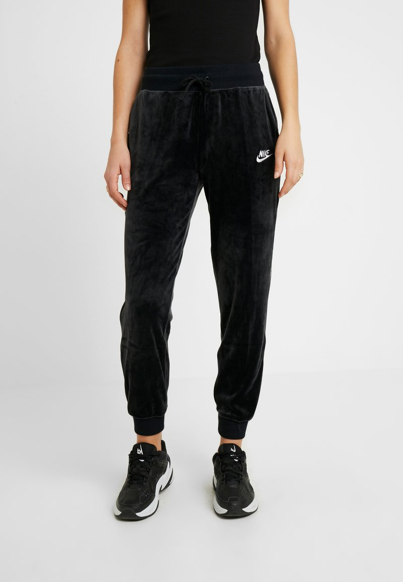 Nike Sportswear - PANT PLUSH - Tracksuit bottoms - black/white