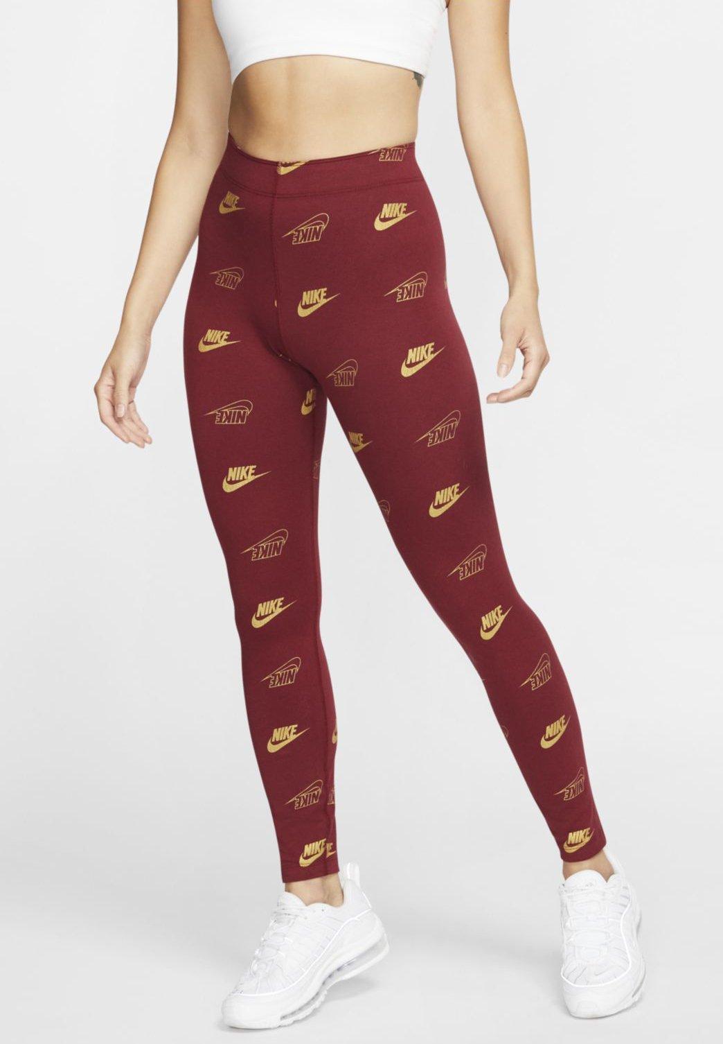 Nike Sportswear SHINE - Leggings red