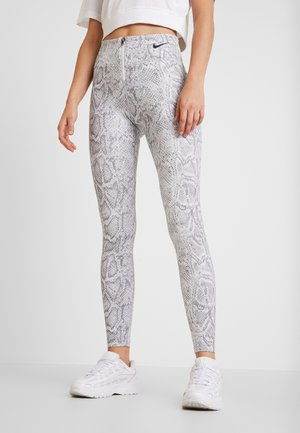 Leggings - white/black